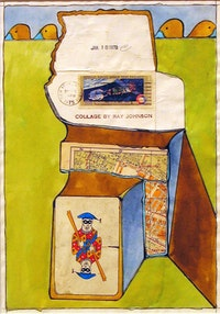 "John Evans, ""January 18, 1978"" (1978). Mixed-media collage, 11"