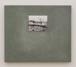 """Ulrich Gebert, """"The Negotiated Order #3,"""" 2012. Silver gelatin print, dibond, cardboard, MDF, linen. 15.5 x 18"""", edition of 3 + 1 AP. Courtesy the artist and Winkleman Gallery, New York."""