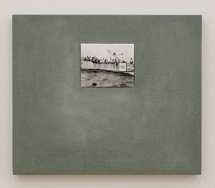 "Ulrich Gebert, ""The Negotiated Order #3,"" 2012. Silver gelatin print, dibond, cardboard, MDF, linen. 15.5 x 18"", edition of 3 + 1 AP. Courtesy the artist and Winkleman Gallery, New York."