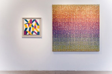 <i>Material Tak</i>, Installation view, Kati Vilim (left) and Peter Fox (right). Courtesy LDO Photo.
