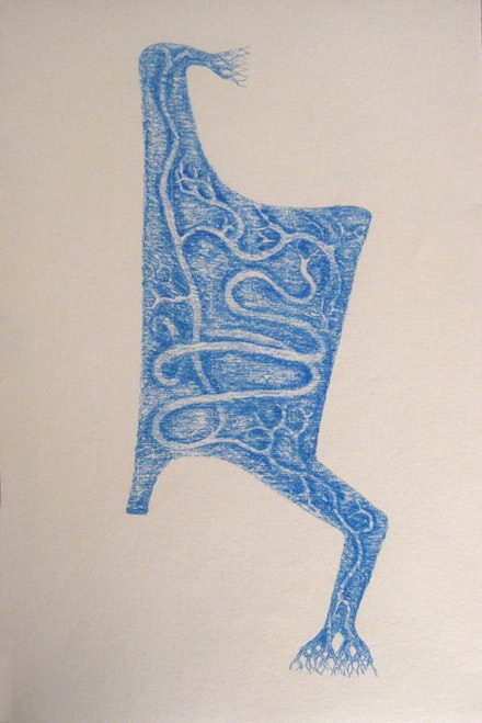 "Robert Egert, ""Ambulation,"" 2011. 12 1/2 x 17"". Conté on printmaking paper. Courtesy Ethan Pettit Contemporary."