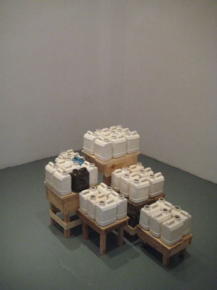 "David Packer, ""1 bidons,"" Courtesy Le Cube."