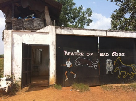 Photo of Moses Blah's compound in Liberia by Nicholas Jahr.