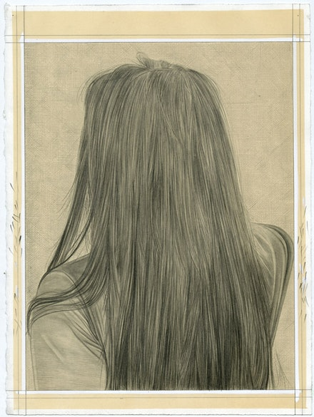 Portrait of Bless. Pencil on paper by Phong Bui.