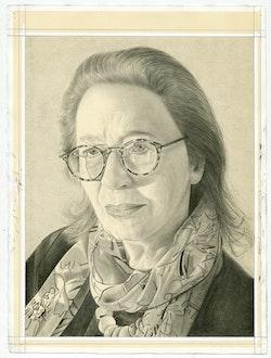 Portrait of Elizabeth Baker. Pencil on paper by Phong Bui.