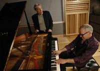 Poet Robert Pinsky and pianist Laurence Hobgood. Photo: Eric Antoniou.