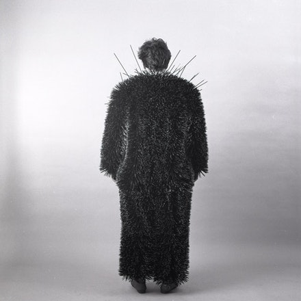 Ann Hamilton, body object series #17 toothpick suit,  1984/2006, black and white photograph. Edition of 15, with 4 APs.