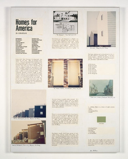 "Dan Graham, ""Homes for America"" (article for Arts Magazine), 1966. Printed matter. Variable according to publication. Courtesy Marian Goodman Gallery."