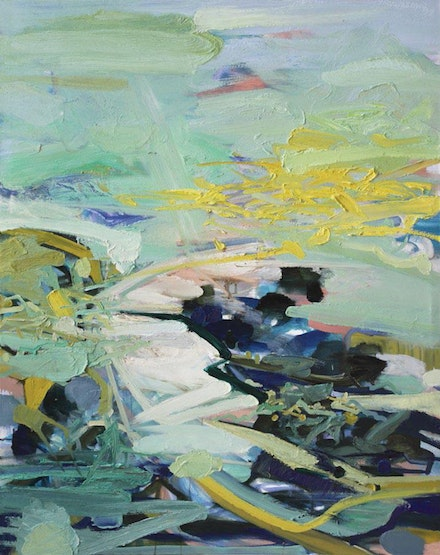 """Yuan Zuo, """"Serene Vallery White Night,"""" 2012. Oil on canvas. Photo: Yuan Zuo."""