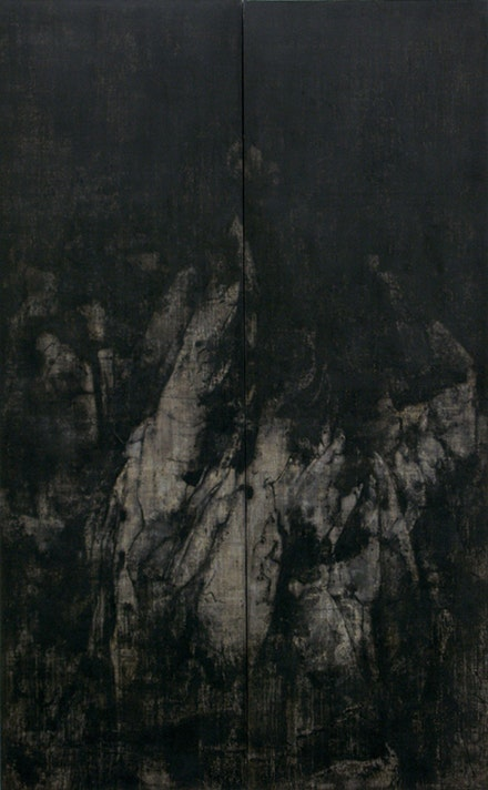 "Cao Jigang, ""Silence and Meditation,"" 2011. Tempera on canvas. Photo: Cao Jigang."