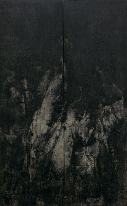 """Cao Jigang, """"Silence and Meditation,"""" 2011. Tempera on canvas. Photo: Cao Jigang."""