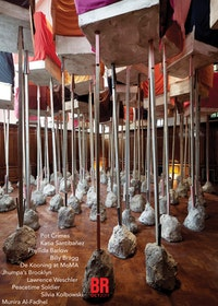 "Phyllida Barlow, ""RIG: untitled; blocks,� 2011. Polystyrene , fabric , timber, cement. Overall installed dimensions: 283 1/2 x 468 1/2 x 409 1/2�. Work in situ. Dimensions variable. Installation view. Hauser & Wirth London, Piccadilly , 2011. © Phyllida Barlow. Courtesy<br /> the artist and Hauser & Wirth . Photo: Peter Mallet."