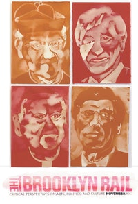"Patricia Cronin, ""Untitled Bleach Portrait,� 2012. Bleach on colored paper, 14 x 10"" each. Courtesy of FordProject."
