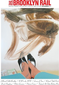 "David Humphrey, ""Kicking Back,"" 2012. Acrylic on canvas. 54 x 44"". Courtesy of Fredericks & Freiser."