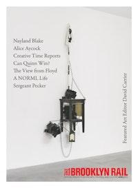 "Nayland Blake, ""Spirit of 69,� 2013. Painted wood, metal, vinyl, fabric and plastic. 116 x 32 x 15�. (c) Nayland Blake, Courtesy Matthew Marks Gallery."