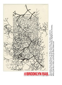 "Tim Rollins and K.O.S. ""Studies for On the Origin of Species (after Darwin),â€� 2012 ink on book page 9×6 ̋ (paper) 12.75×9.75 ̋ (frame). Courtesy the artists and Lehmann Maupin, New York and Hong Kong."