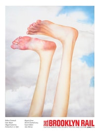 "Robert Feintuch. ""Feet Up,â€� 2013. Polymer emulsion on honeycomb panel. 23.75 × 19 ̋. Courtesy of Sonnabend Gallery and the artist."