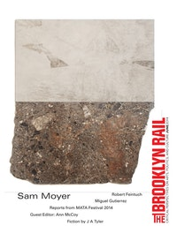 "Sam Moyer. ""Zola,â€� 2014. Stone, ink on canvas mounted to mdf panel. 80 × 69 × .75 ̋. Courtesy of the artist and gallery."
