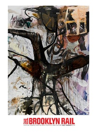 "Tsibi Geva. ""Untitled,â€� 2013. Acrylic, oil and glass paint on canvas. 94.5 × 70 ̋. Photo: Elad Sarig."