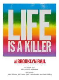 "John Giorno. ""Life is a Killer� (2015). Screenprint and enamel on linen, 40&#8201;×&#8201;40"". Courtesy of the artist and Elizabeth Dee, New York. Photo: Etienne Frossard.<br />"