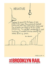 "Philip Guston and Bill Berkson Collaboration. ""Negative� (1973)."