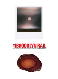 "Top: Kevin Zucker. <em>Untitled (Black & White Sunset)</em>, 2014. Polaroid. 3 1/2 × 4 1/4 inches. Courtesy the artist, Eleven Rivington, New York and Linn Luehn, Dusseldorf. Bottom: Robert Caillois. <em>""Orbits� Jasper</em>. (Idaho, U.S.; 84 × 123 mm)."