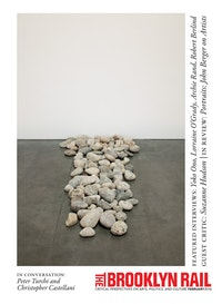 Yoko Ono. <em>Stone Piece</em> (Andrea Rosen Gallery, New York 2015/2016), 2015. Local riverbed rocks. Dimensions variable. Courtesy Andrea Rosen Gallery, New York. © Yoko Ono. Photo: Pierre Le Hors.