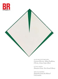 Carmen Herrera. <em>Irlanda</em>, 1965. Acrylic on canvas with painted frame, 34 3/4 x 34 7/8 inches. Collection of Pérez Simón. © Carmen Herrera.<br />