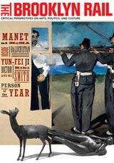 Top (detail): Manet, <cite>The Execution of Maximilian,</cite> 1867, oil on canvas. <br /> Bottom: Kiki Smith, <cite>Born,</cite> 2002, Bronze.