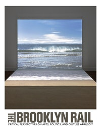 Agn&#232;s Varda. <em>Bord de Mer</em>, 2009. Digital HD projection (color, sound), sand. 1 min., looped. 96 &#215; 120 &#215; 115 inches. Couresy the artist and Blum &amp; Poe, Los Angeles/New York/Tokyo. Photo: Genevieve Hanson.