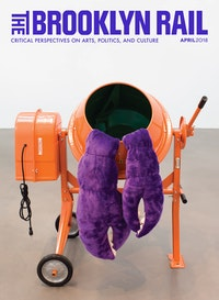 Cosima von Bonin, <em>HERMIT CRAB</em>, 2018. Steel cement mixer, fabric, rubber, 52 x 50 x 38 inches. Courtesy the artist and Petzel, New York.