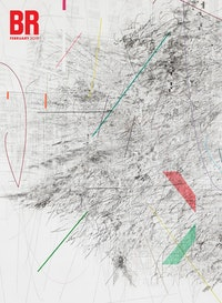 Julie Mehretu,<em>Mogmamma (A Painting in Four Parts)</em>, 2012. Ink and acrylic on canvas. 180 x 144 inches. Photo: Ben Westoby. Courtesy the artist, Marian Goodman Gallery, New York and White Cube, London. Collection<br />