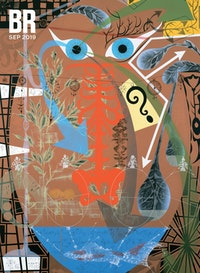 Lari Pittman, <em>The Senseless Cycles, Tender and Benign, Bring Great Comfort</em>, 1988. Acrylic and spray paint on wood, 96 x 64 inches. Collection of the Art Institute of Chicago. &copy; Lari Pittman. Courtesy Regen Projects, Los Angeles.