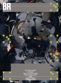 Brad Kahlhamer, <em>Super Speaker</em>, 1996. Ripped speaker cones, glue, wire. Dimensions variable. Courtesy the artist. Cover designed by guest designer, Raf Rennie.