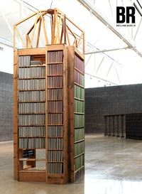 Installation view: <em>Theaster Gates: Black Vessel</em>, 2020. &copy; Theaster Gates, Photo: Robert McKeever, Courtesy Gagosian.<br />