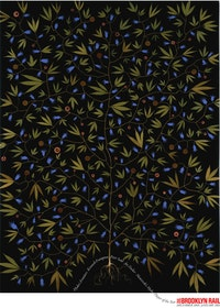 Fred Tomaselli<br /> 'Super Plant' (1994)<br /> Psychoactive plant material, <br /> acrylic, and resin on wood panel. 74 x 54 in. <br /> Hort Family Collection. © Fred Tomaselli. Image courtesy of the James Cohan Gallery, New York<br />