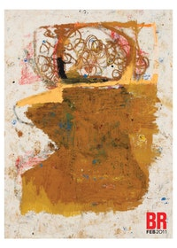 "Joe Bradley ""Pigpen (#2)"" (2010) Oil on canvas. 97 x 72 inches. Courtesy of Gavin Brown's Enterprise."